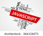 javascript word cloud  tag... | Shutterstock .eps vector #366126071