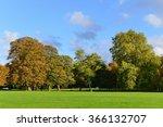 view of a beautiful green lawn...   Shutterstock . vector #366132707