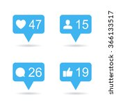 follower  like  comment icons.... | Shutterstock .eps vector #366133517
