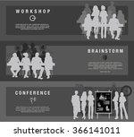 horizontal flat banners set of... | Shutterstock .eps vector #366141011