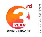 3th anniversary logo template...