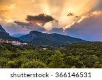 Mount Olympus In Greece In A...