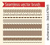 vector set of seamless brush... | Shutterstock .eps vector #366147845