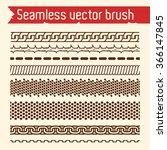 Vector set of seamless brush for Illustrator.