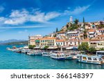 poros island in a summer day in ... | Shutterstock . vector #366148397