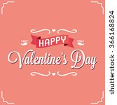 logo design happy  valentines... | Shutterstock .eps vector #366168824