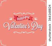 logo design happy  valentines... | Shutterstock .eps vector #366168824