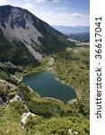 Small photo of Satorsko lake - in the western regions of Bosnia and Herzegovina at 1488 meters a.s.l. below Sator mountain