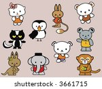 collection of stuffed animal... | Shutterstock .eps vector #3661715