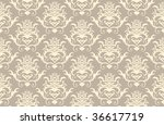 abstract seamless damask...   Shutterstock . vector #36617719