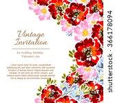vintage delicate invitation... | Shutterstock .eps vector #366178094