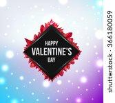happy valentine's day. flyer... | Shutterstock .eps vector #366180059