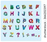 vector of colorful alphabet | Shutterstock .eps vector #366202397