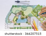 landscape architect design... | Shutterstock . vector #366207515