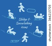 sledging and snowtubing icon... | Shutterstock .eps vector #366215705