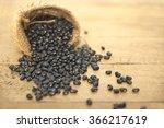 sack of black beans spill beans ...