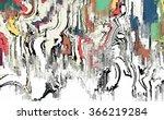 canvas painting texture | Shutterstock . vector #366219284