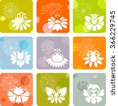 floral icons | Shutterstock .eps vector #366229745