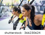 fitness trx suspension straps... | Shutterstock . vector #366230624