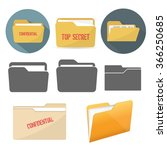 file folder icons | Shutterstock .eps vector #366250685