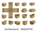 vector shipping box | Shutterstock .eps vector #36626755