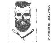 bearded skull illustration | Shutterstock .eps vector #366269507