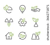 ecology simple vector icon set  ... | Shutterstock .eps vector #366271871