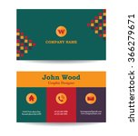 modern business card template... | Shutterstock .eps vector #366279671