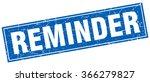 reminder blue square grunge... | Shutterstock .eps vector #366279827