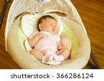 Baby Girl Newborn Sleeping In...