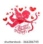 happy valentine's day. greeting ... | Shutterstock .eps vector #366286745