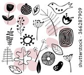 hand drawn pattern with... | Shutterstock .eps vector #366287909