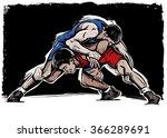 vector color comics freestyle... | Shutterstock .eps vector #366289691