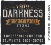 whiskey label font and sample... | Shutterstock .eps vector #366305009