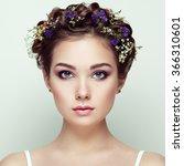 face of beautiful woman... | Shutterstock . vector #366310601