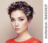 face of beautiful woman... | Shutterstock . vector #366310619