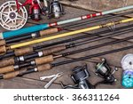 Different Fishing Rods And...