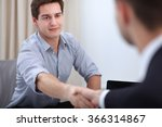two business men shaking hands | Shutterstock . vector #366314867