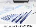 3d business graphs on the table ... | Shutterstock . vector #366329744
