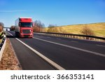 truck transportation on the road | Shutterstock . vector #366353141