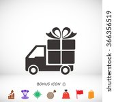 delivery gift . icon. vector ... | Shutterstock .eps vector #366356519