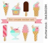 ice cream set for cafe ... | Shutterstock .eps vector #366360284