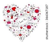 beautiful heart. heppy... | Shutterstock .eps vector #366367187