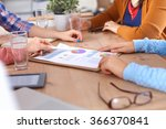 business people sitting and... | Shutterstock . vector #366370841