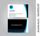 business card design.   Shutterstock .eps vector #366385169