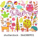 vector forest design  elements... | Shutterstock .eps vector #366388901