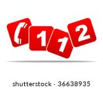 emergency phone number vector... | Shutterstock .eps vector #36638935