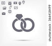 ring icon vector | Shutterstock .eps vector #366418499
