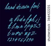 vector alphabet.hand drawn...   Shutterstock .eps vector #366422231