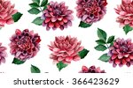 Dahlia Watercolor Flowers...